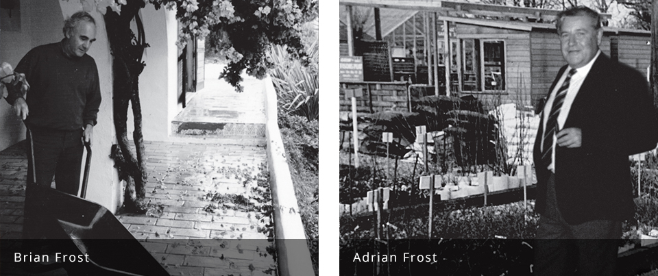 About Frost family Adrian and Brian Frost