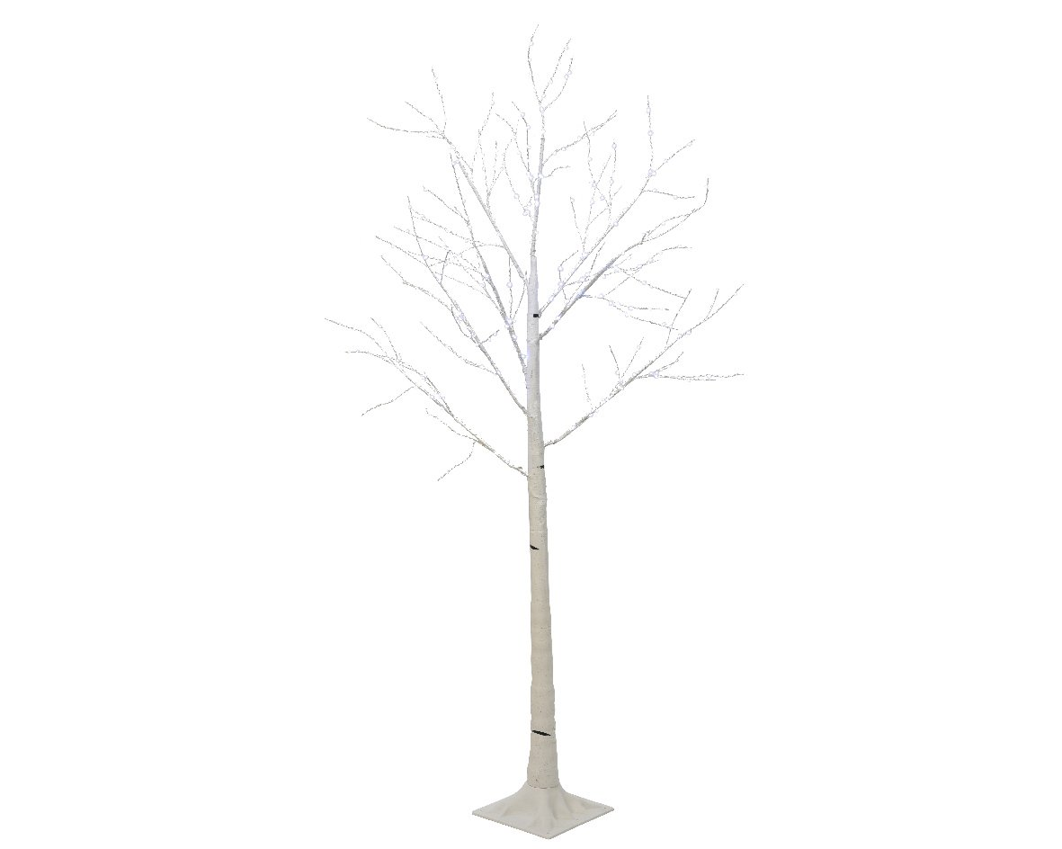 Micro Birch Cool White LED Tree - 1.5m