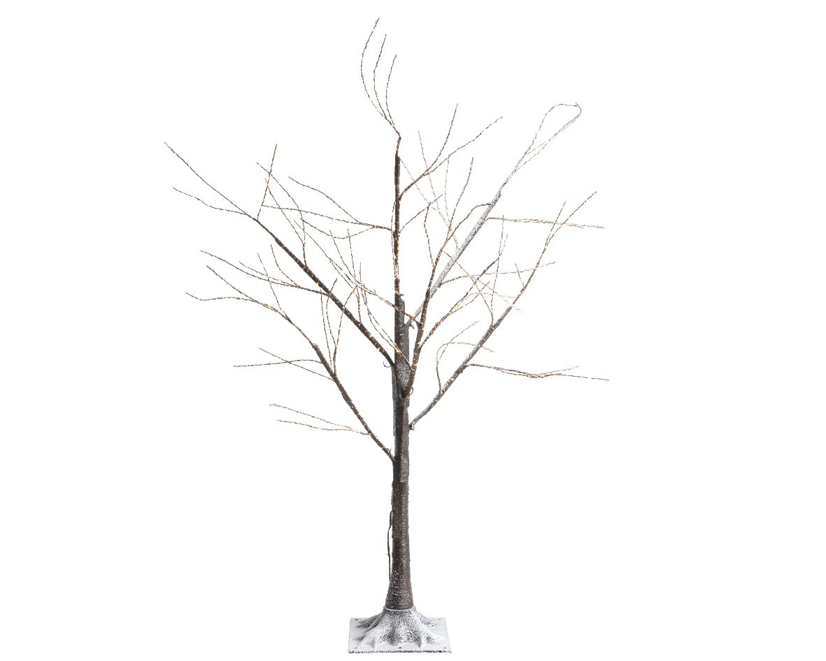Micro Brown Warm White LED Tree - 1.8m