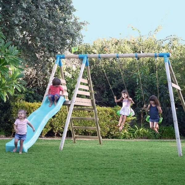 TP Breacon Wooden Swing Set and Slide - image 1