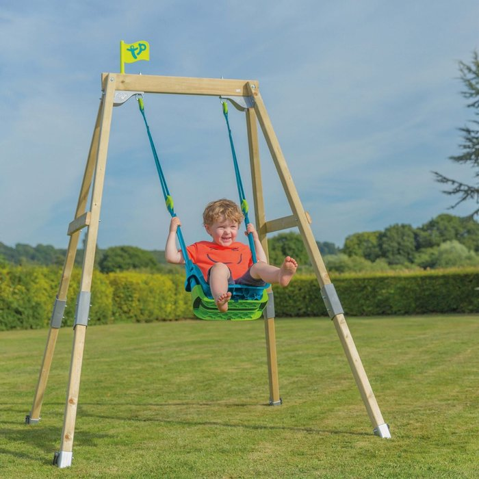 TP Forest Acorn Growable Wooden Swing Set with Quad Pod - image 1