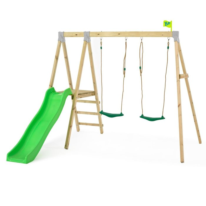 Tp Forest Multiplay Wooden Swing Set and Slide - image 3