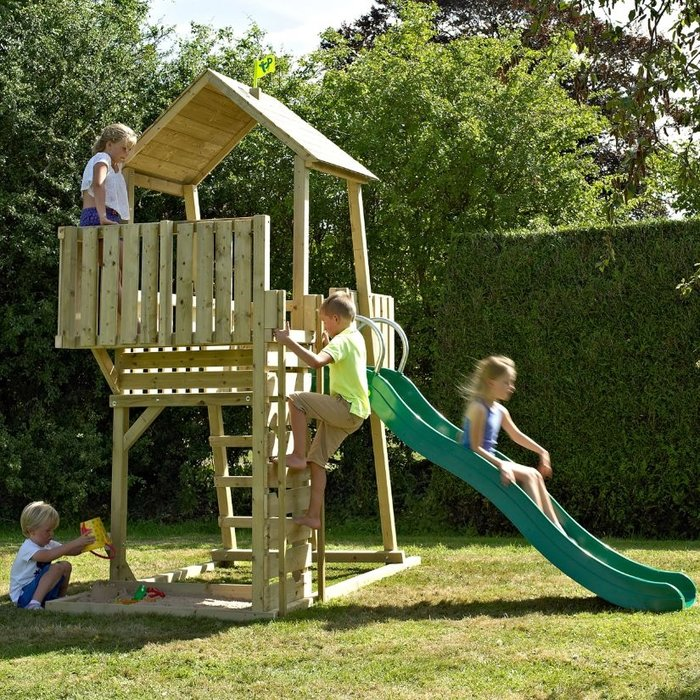 TP Kingswood Normandy Wooden Climbing Frame and Slide - image 1