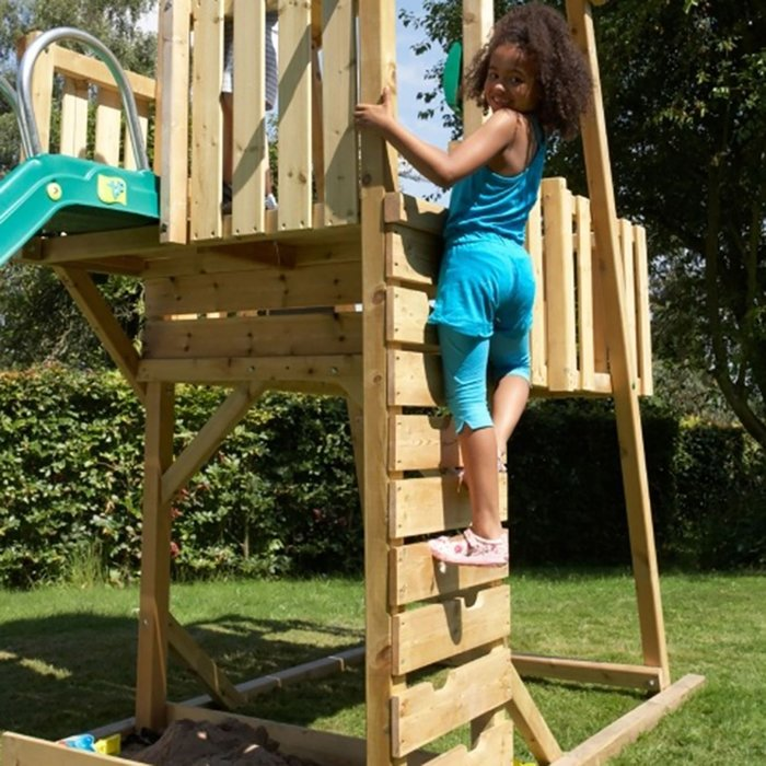 TP Kingswood Normandy Wooden Climbing Frame and Slide - image 3