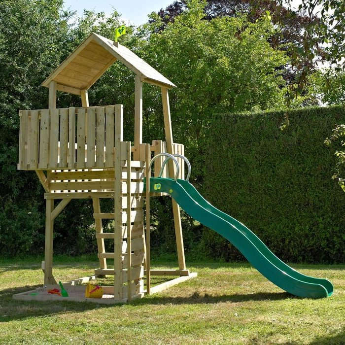 TP Kingswood Normandy Wooden Climbing Frame and Slide - image 2
