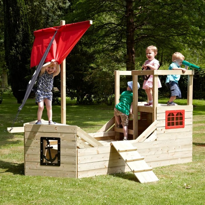 TP Pirate Galleon Wooden Playhouse - image 1