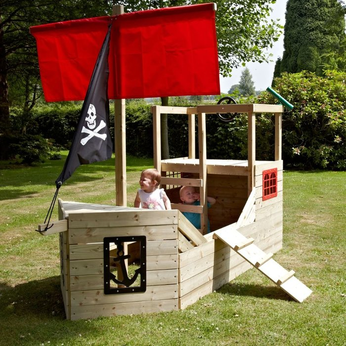 TP Pirate Galleon Wooden Playhouse - image 2