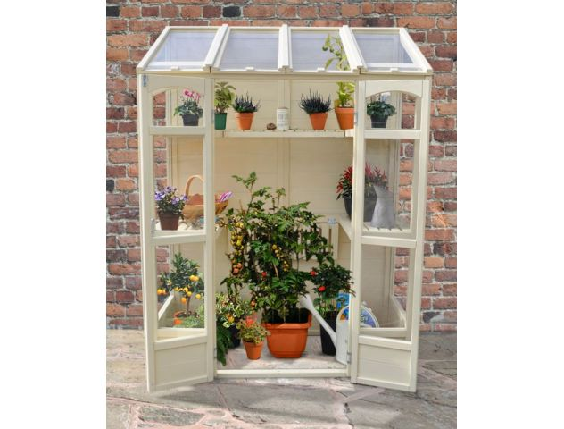 Victorian Tall Wall Greenhouse with Auto Vent - image 1