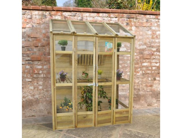 Victorian Tall Wall Greenhouse with Auto Vent - image 4